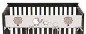 Sweet Jojo Designs Little Lamb Farm Animals Long Front Rail Guard Baby Teething Cover Crib Protector Wrap