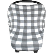 """Baby Car Seat Cover Canopy and Nursing Cover Multi-Use Stretchy 3 in 1 Gift """"The Scotland"""" by Copper Pearl"""