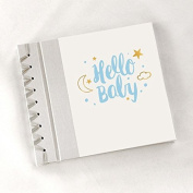 Handmade Baby's First Book For LGBT MOM & MOM Same Sex Parents Hello Baby Blue