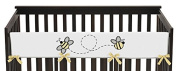 Sweet Jojo Designs Honey Bee Long Front Rail Guard Baby Teething Cover Crib Protector Wrap
