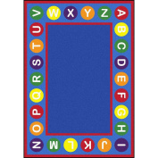 Joy Carpets Kid Essentials Early Childhood Alphabet Spots Rug, Multicoloured, 2.1m x 3m