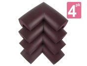 My Baby Table Corner Guards | 8 Pcs of Dark Brown Flexible Babyproof Furniture Bumper Corner Cushion Guard with 3-M Adhesive Tape For Quick Installation | Soft NBR Material | 252.2