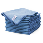 Buff Pro Multi-Surface Microfiber Towel – 12 Pack| Premium Cleaning Cloths | Dust, Scrub, Clean, Polish, Absorb | Large 41cm x 41cm