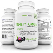 Natural Anxiety Pills + Mood Enhancement Anti Stress Mood Enhancer Depression Supplement Made in USA - Calming Depression and Anxious Feelings - Mood Boost with Anti Anxiety Ingredients Men Women Kids