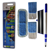 Professional Microfiber mop for hardwood tile laminate & stone floors DREDGE Best all in 1 kit Dry & wet cleaning +3 advanced drag resistant pads|revolutionise your mopping experience