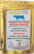Dr. Formulas Goldfit Hydrolyzed Collagen Peptides from Grass Fed S American Cows - Tasteless, Low Carbohydrate, Kosher/Halal Protein
