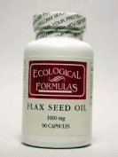 Ecological Formulas Flax Seed Oil (Organic) 90 Gels