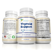 Thyroid Support Supplement with Iodine- 60 Day Supply - Helps to Improve Energy & Weight Loss Plus Metabolism Made With Vitamin B-12, Bladderwrack, Kelp, L- Tyrosine, Ashwagandha For Hormonal Health