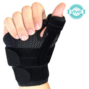 Arthritis Thumb Splint by Vive - Adjustable Thumb Support With hook and loop Straps - Thumb Stabiliser Perfect for Treating Arthritis, Sprains, Strains, Trigger Thumb - Universal Size - Vive Guarantee
