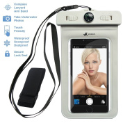 Voxkin Premium Quality Universal Waterproof Case with Armband, Compass, Lanyard - Best Water Proof, Dustproof, Snowproof Pouch Bag for iPhone 7, 6S, 6, Plus, 5S, for Samsung Galaxy Phone S7