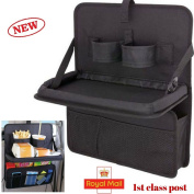 Car Back Seat Storage Folding Table Tidy Organiser Laptop Holder Tray 600D