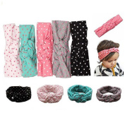 Enuo Baby Girl Newest Turban Headband Head Wrap Knotted Hair Band