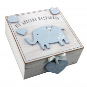 Petit Cheri' MDF My Special Keepsake Box 16cm x 16cm - Blue
