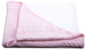 Baby's Only Hooded Bath Towel VELOUR FABRIC Braid Knitted 82 x 82 cm