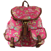 Claudia & Jason® New Girls Backpack Butterfly Print Ladies Canvas Rucksack School Travel Holiday Bag UK