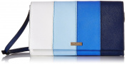 kate spade new york Cedar Street Stripe Cali Convertible Cross Body Bag, Ocean Blue/Multi