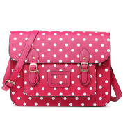 Miss LuLu Ladies Designer Polka Dot PU Satchel Messenger Shoulder Bags Fashion Women Handbags Pink