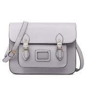 Miss LuLu Ladies Designer PU Satchel Messenger Shoulder Bags Fashion Women Handbags Grey