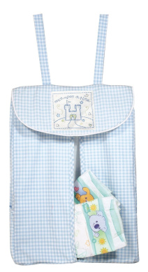 Once Upon a Time Blue Gingham Nappy Stacker