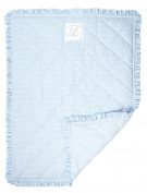 Once Upon a Time Blue Gingham Cot Blanket, Playmat