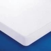 Looping Bed Mattress Protector Cotton White PU Antibacterial Anti Mould