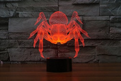 Elsely New Spider 3D Touch Lamp Colourful LED Visual Light Gift Lamp Festival Atmosphere