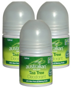 Optima Australian Tea Tree Deodorant with Aloe Vera 3 x 50ml Roll-on