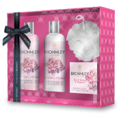 H. Bronnley & Co Pink Peony and Rhubarb Shower and Body Gift Set