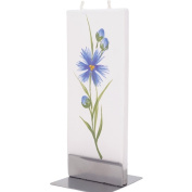 Flatyz Twin Wick Unscented Thin Flat Candle - Blue Flower