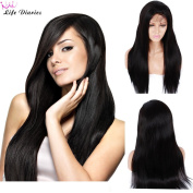 Life Diaries Kinky Yaki Glueless Full Lace Wigs 8A Unprocessed Brazilian Virgin Human Hair Lace Wig For Women Free Part