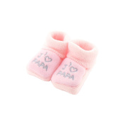 baby booties Pink 0-3 Months - Like Dad