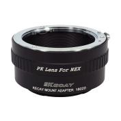 KECAY Pentax K (PK) Lens to Sony NEX E-Mount Camera Adapter Ring,fits Sony NEX-3 NEX-3C NEX-5 NEX-5C NEX-5N NEX-5R NEX-6 NEX-7 NEX-F3 NEX-VG10 VG20 etc