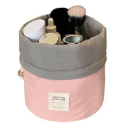 Cravog Travel Restroom Barrel Cosmetic Bag multi Makeup Bags