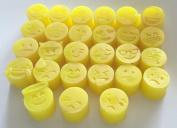 28 Emoji Faces Mini Tiny Soaps - Birthday, Christmas Novelty Gift O