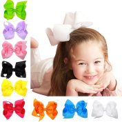 Baby Girl Grosgrain Ribbon 15cm Large Boutique Hair Bows Pack Of 16