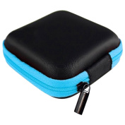 Bluelans® Square Zipper Storage Bag Carrying Case for Hard Keep Earphones SD Card Area
