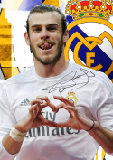 Gareth Bale #50 signed print - REAL MADRID FC - A4 poster - signature - Sign Poster Print Picture, SPORTS, FOOTBALL