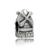 truecharms Silver Plated Dutch Windmill Tower Travel Charm Beads Fits Pandora Jewellery Charms Bracelets