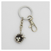 Birds Nest Keychain Mothers Keychain Animal Jewellery Strong Keychain Big Keychain Mother Bird Jewellery