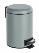Wenko Léman Cosmetic Pedal Bin Stainless Steel, Grey, 17x17x27 cm