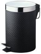 New . Black 3L Step Pedal Waste Bin Toilet Dust Bin Bathroom Accessories