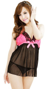 Smile YKK Women Halter Transparent Backless Nightwear Sleepwear
