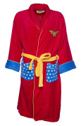 Womens Red Retro DC Comics Wonder Woman Dressing Gown