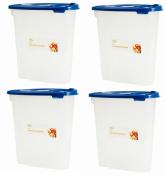 2 x 5L Cereal Dispenser Storage Box Lid Food Rice Pasta Container Tub Dry Bin
