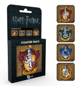 Harry Potter Crests Coaster Pack, Wood