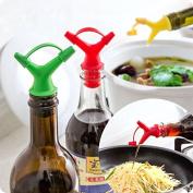EQLEF® 2Pcs Corker Wine Bottle Stopper Pourer Oil Vinegar Dispenser Spout with Cap