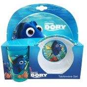 Finding Dory Tumbler Bowl and Plate 3pc Dinner Set