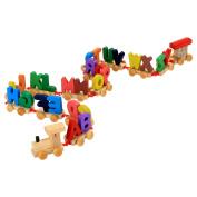 Wooden Kids Toys Alphabet Railway Train Children's Educational Toys