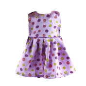 Fashion Sleeveless Dress With Polka Dot Printed for 46cm American Girl Our Generation Doll