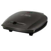 George Foreman 18871 Five Portion Family Variable Temp Grill - Black